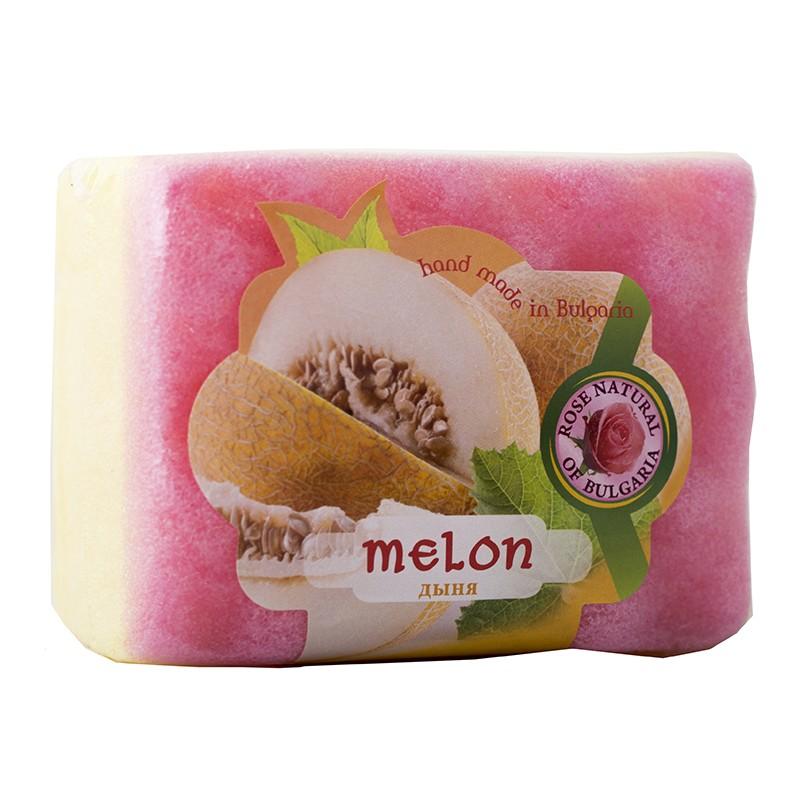 Peelingujące mydło-gąbka Melon
