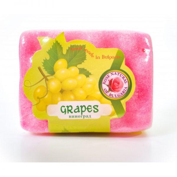 Peelingujące mydło-gąbka Winogrono