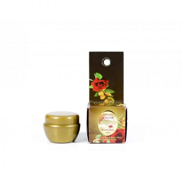 Balsam do ust w słoiczku Argan & Rose