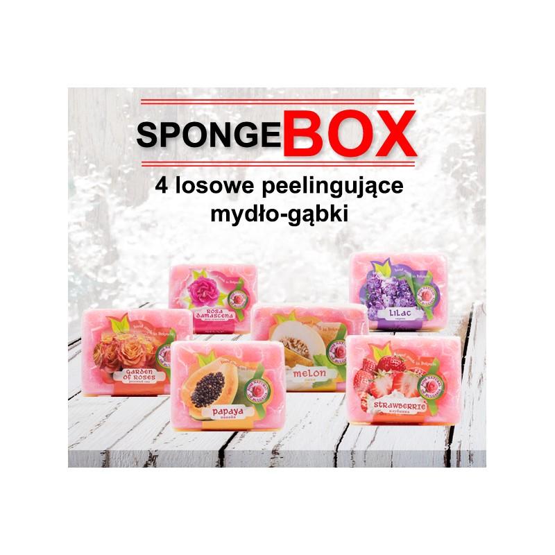 Peelingujące mydło-gąbki SpongeBOX