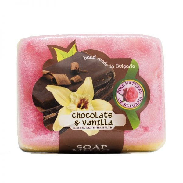 Peelingujące mydło-gąbka czekolada