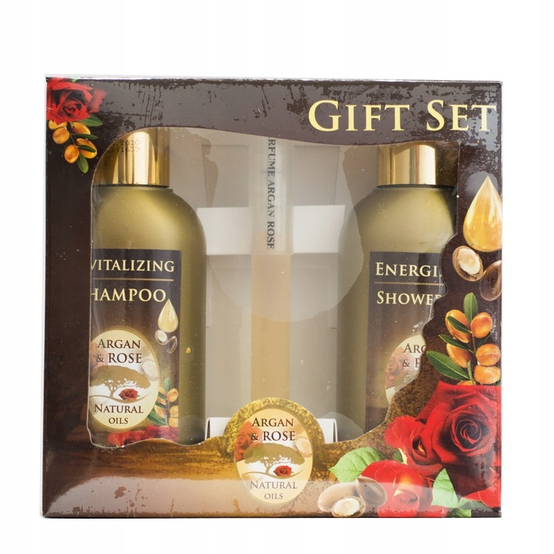 Zestaw Argan & rose z perfumami